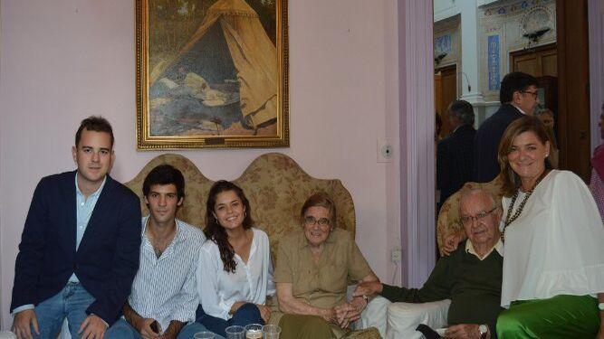 Guillermo de la Rosa, Gonzalo Brome, Carlota Merino, Teresa Barrasa, José Luis y Reme de la Rosa.