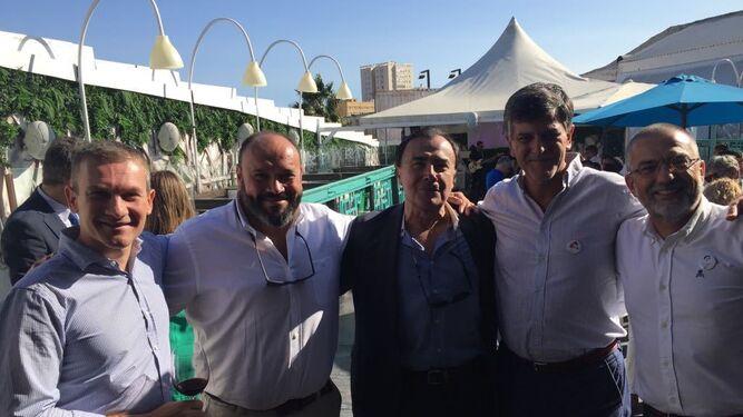 Carlos Sanz, Daniel de las Peñas, Miguel Iglesias, Luis Arenas y Felipe Meléndez.