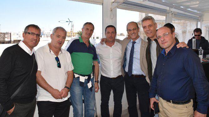 Luis González, Marcelo González, Claudio  Vidussi, José Iglesias Delgado, Eduardo Cadenas, Félix García y Javier Girón.