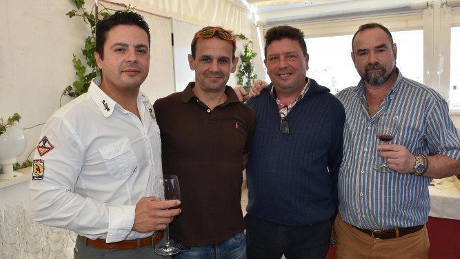 Rubén Criado, Antonio  Frende, Manuel Criado y Tomás Gomar, coincidieron en la degustación.