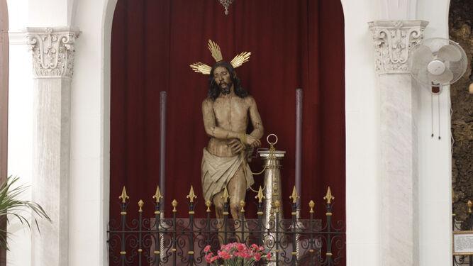 El Señor de Columna, imagen a la que se le reza en San Antonio para pedirle por la lluvia.