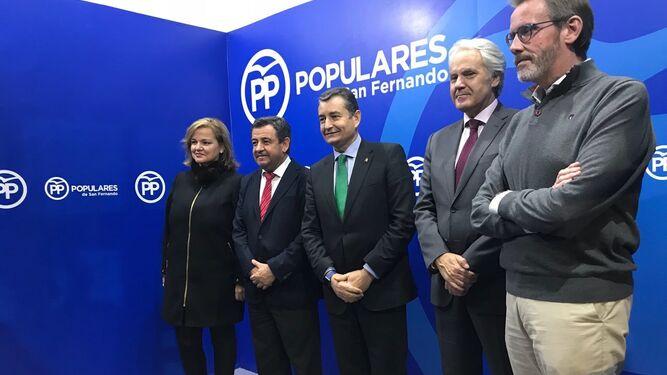 Antonio Sanz, en la sede del PP isleño.