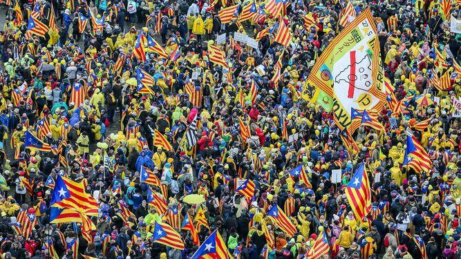 Marcha independentista en Bruselas