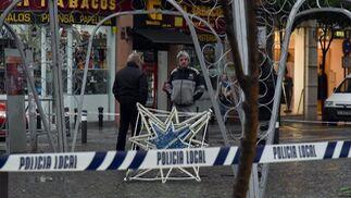 La estrella desmontada del árbol de Navidad de Algeciras.