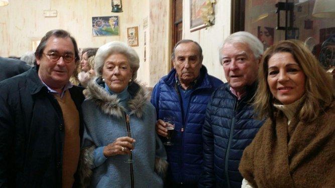 Rafael Maira, Manuela Lamet, Antonio Morán, Juan Lamet y Lola Moya.