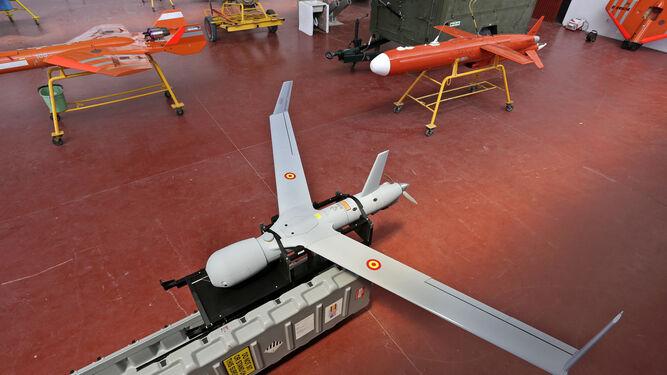 Uno de los drones de la Undécima en su base en Torregorda.