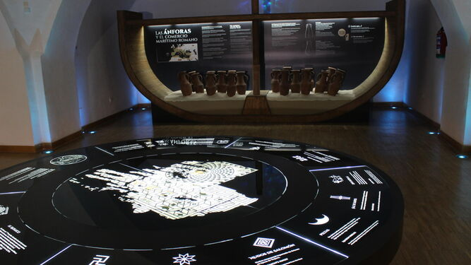 Planta sótano del Centro de interpretación, donde arranca el recorrido histórico.