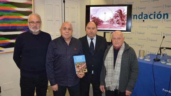 Manuel Pedreño, Joaquín Carlos Herrera González, Julio Molina Font y el coleccionista  Pepe Marchena.