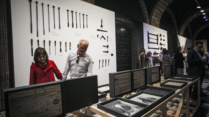 El claustro de la Diputación Provincial ha sido sede de varias exposiciones relacionadas con el Tricentenario.