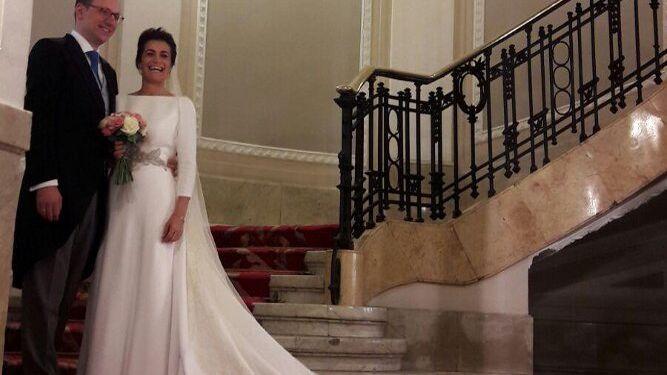 El nuevo matrimonio Lucio Martínez de Salazar y Marta Duque.