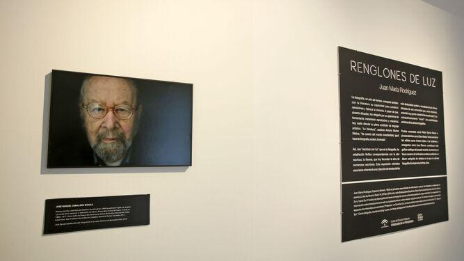 Imagen de José Manuel Caballero Bonald que se muestra en la exposición.