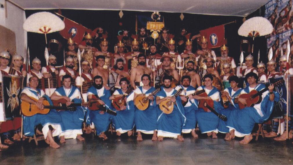 'Quo Cadix', coro de Longobardo y Bablé. Salvador Longobardo, Eduardo Bablé y Kiko Zamora lograron el primer premio de coros en el Carnaval de 1988.