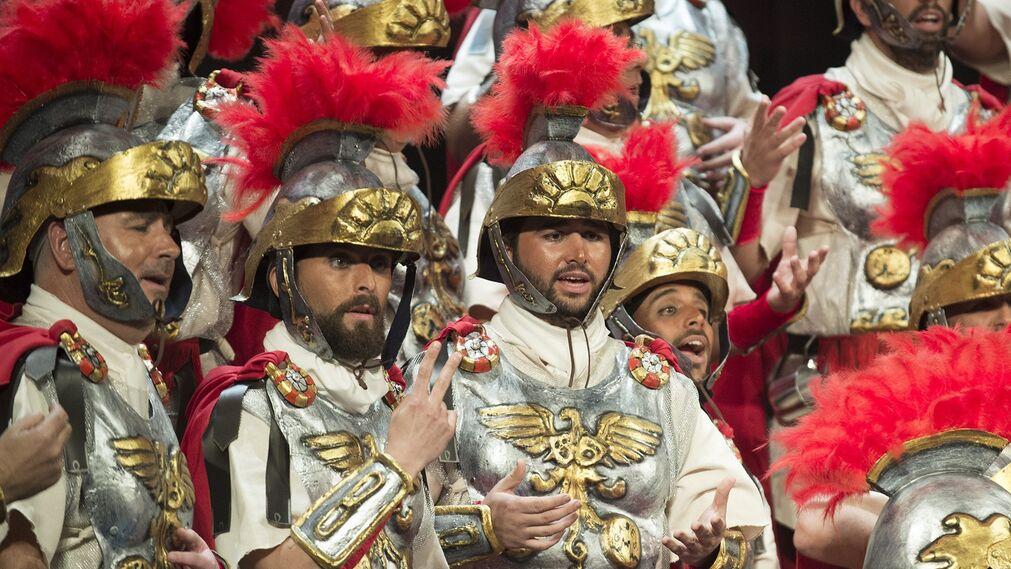 'La centuria', coro de Sevilla. La última agrupación romana que se ha visto por ahora. El coro de Sevilla actuó en las preliminares del pasado viernes.