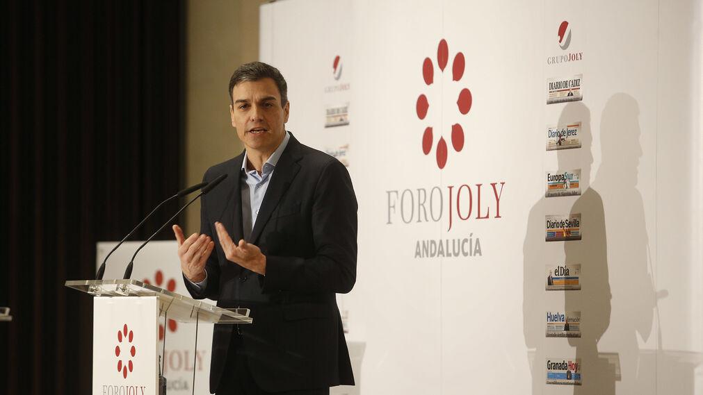 Pedro Sánchez, en el Foro Joly
