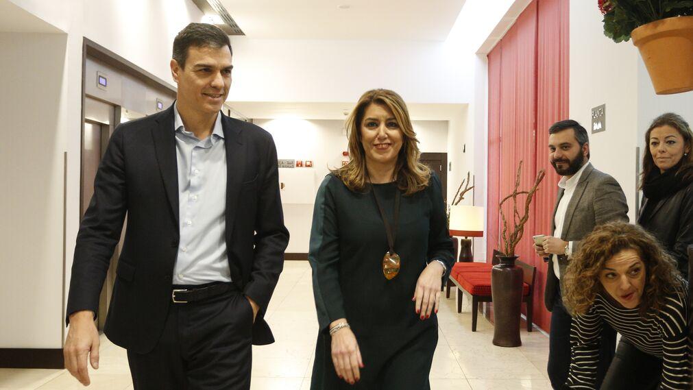 Susana Díaz y Pedro Sánchez en el Foro Joly