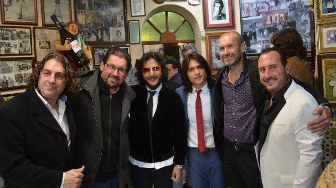 Luis el Salao, Antonio Higuero, Antonio Reyes, Samuel Serrano y Andrés Bermúdez, durante la presentación.