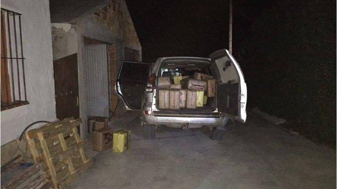 Uno de los vehículos con los que introducían la droga.