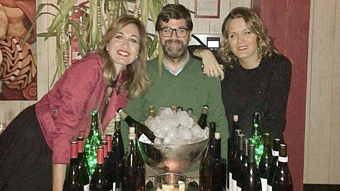 Pilar Villareal, José Carlos Serrano y Rebeca González.