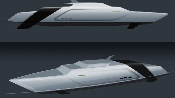 Imagen de la recreación de los buques que, según la Universidad de Cádiz, podrían hacer este recorrido.