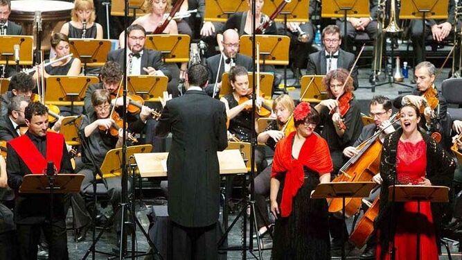 Un momento de la interpretación de la ópera en Burgos.