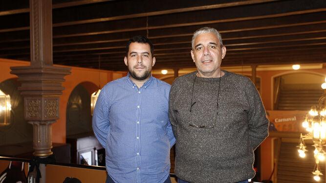 Airan y Juan Bazzocchio, autores de las murgas ganadoras.
