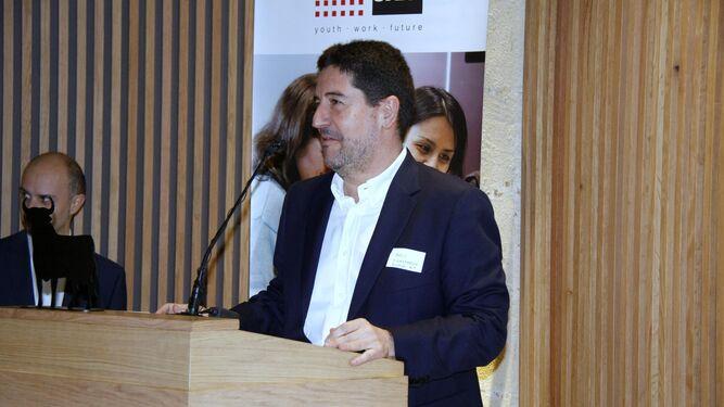 Pablo Zimmermann, responsable del Proyecto Coach, durante su intervención de ayer en la Fundación Osborne.