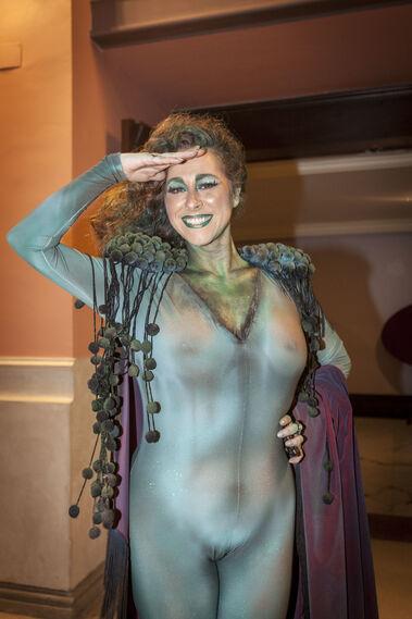 María Romay enfundada en el disfraz de diosa Gades