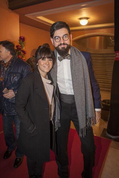 El humorista Manu Sánchez junto a la cantante Vanesa Martín