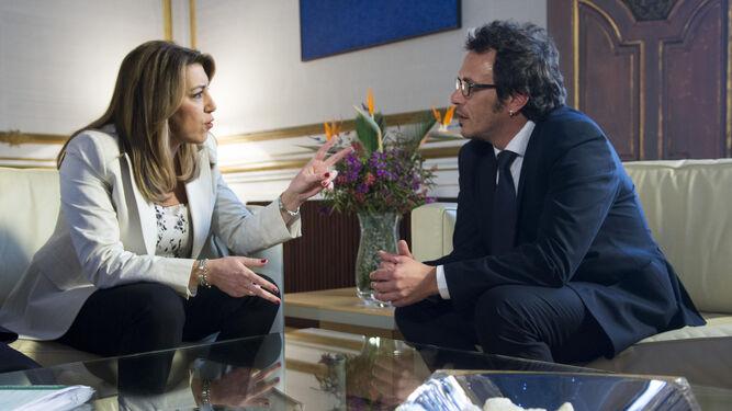 La presidenta de la Junta, Susana Díaz, esta semana reunida en Sevilla con el alcalde José María González.