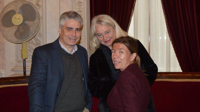 Vicente Sánchez, Mercedes Colombo y María del Mar Díez, tras finalizar el acto.