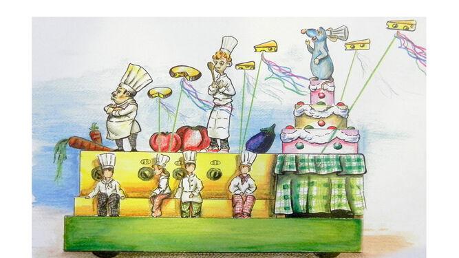 Boceto de la carroza 'Ratatouille'