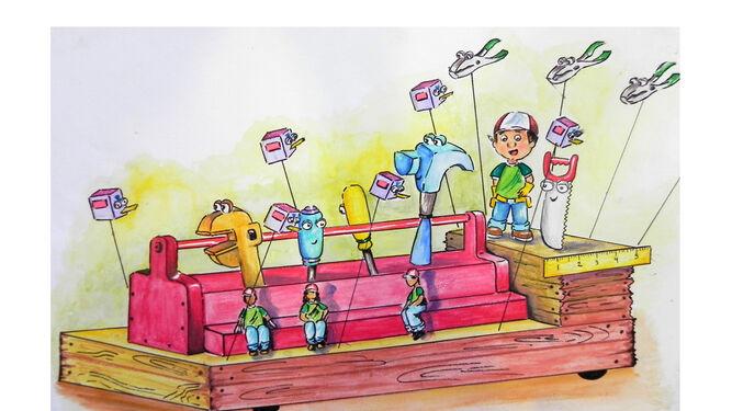 Boceto de la carroza inclusiva de 'Many Manitas'