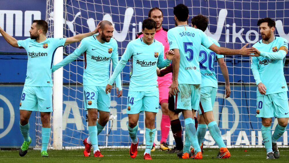 El Eibar-Barcelona, en imágenes