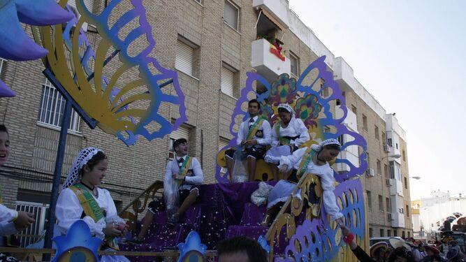 La carroza de coquineras y coquineros del Carnaval 2018 acaparó los elogios del público.