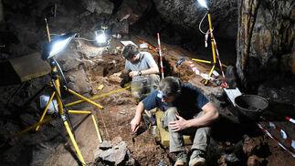 Trabajos realizados en las cuevas de Ardales, en Málaga