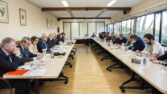 Imagen de la primera reunión entre Navantia, SEPI y sindicatos.