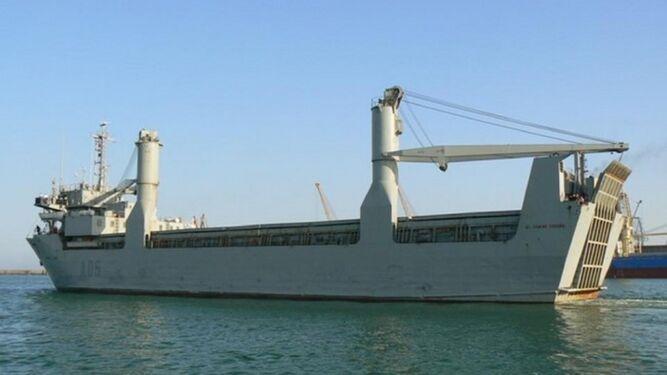 Uno de los buques de transporte logístico que pretende sustituir el Ejército de Tierra, el 'El Camino Español'.