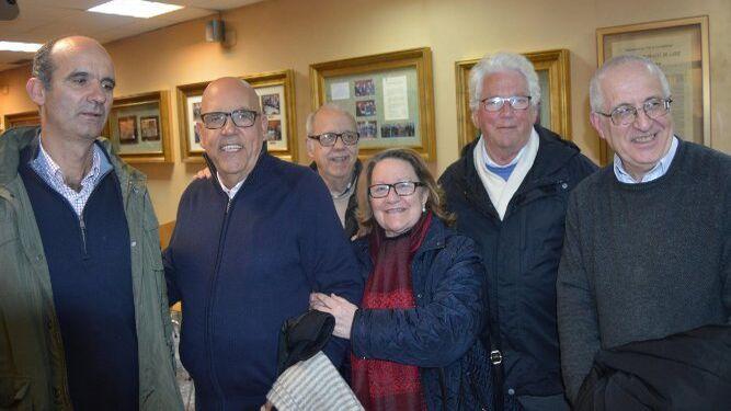 Javier Yrayzoz, padre Aquiles López, Jesús García de Paredes, María del Carmen Esteban, Hans Joseph Artz y padre Luis Sánchez.