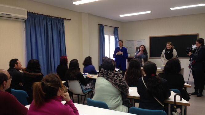 Momento de la inauguración de las iniciativas de formación impulsadas desde la Consejería de Empleo.