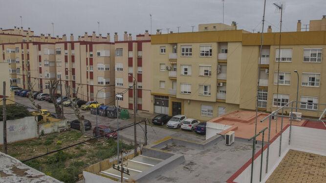 Aspecto actual de la zona de la calle García de la Herrán en la que se encontraba la casa de Juan Rodríguez.