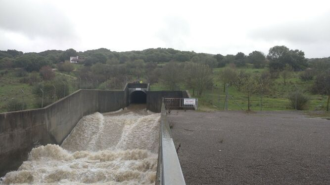 El travase del río Guadiaro al Majaceite, a pleno rendimiento esta semana.