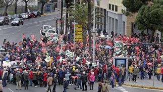 Las imágenes de la manifestación por las pensiones dignas en Cádiz