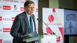 José Luis Blanco, en un momento de su intervención, ayer, en el Palacio de Congresos.