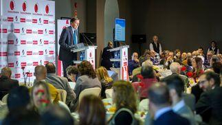 Un momento de la conferencia de José Luis Blanco, ayer en el Palacio de Congresos.