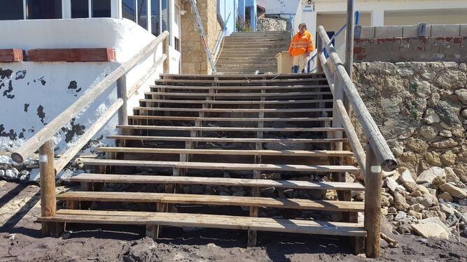 El acceso a Fuentebravía ya ha sido reparado tras los desperfectos causados por los temporales.