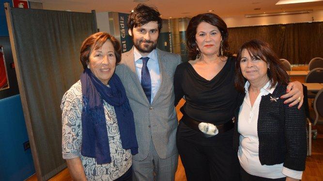 Sacramento Arjona, Christian Gelos, María José Rondán y María José Ayala.