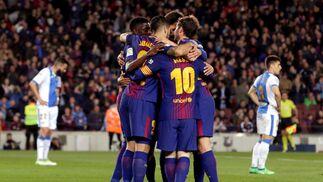 Las imágenes del Barcelona-Leganés