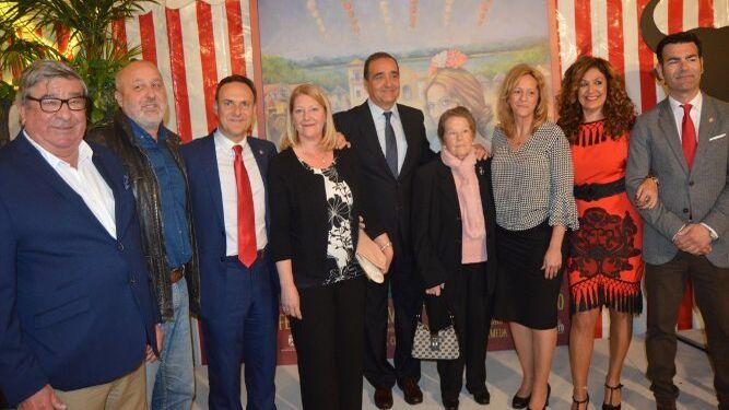 Paco Gordillo, Jesús Perea, el alcalde David de la Encina, Isabel Martín, José Manuel Perea, María Perdiguero, Ana María Arias, Marisa Lara y Ángel Quintana.