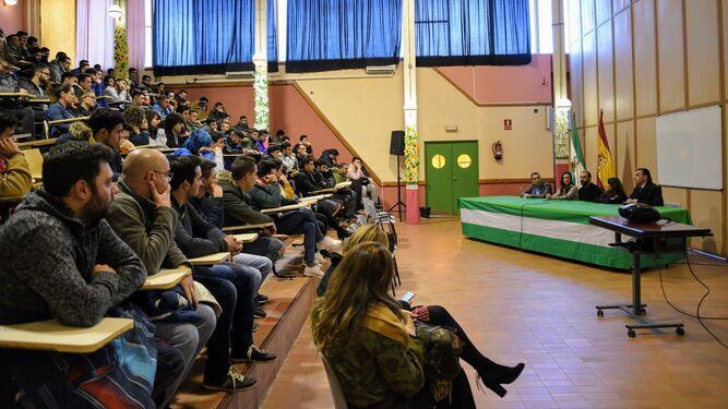 Salón de actos del IES Virgen del Carmen, que será reformado.