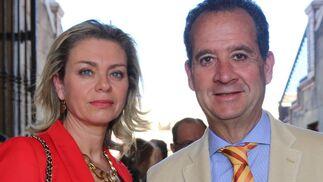 Mª Dolores Delgado y Carlos Suffredini, Director del Hotel Alfonso XIII
